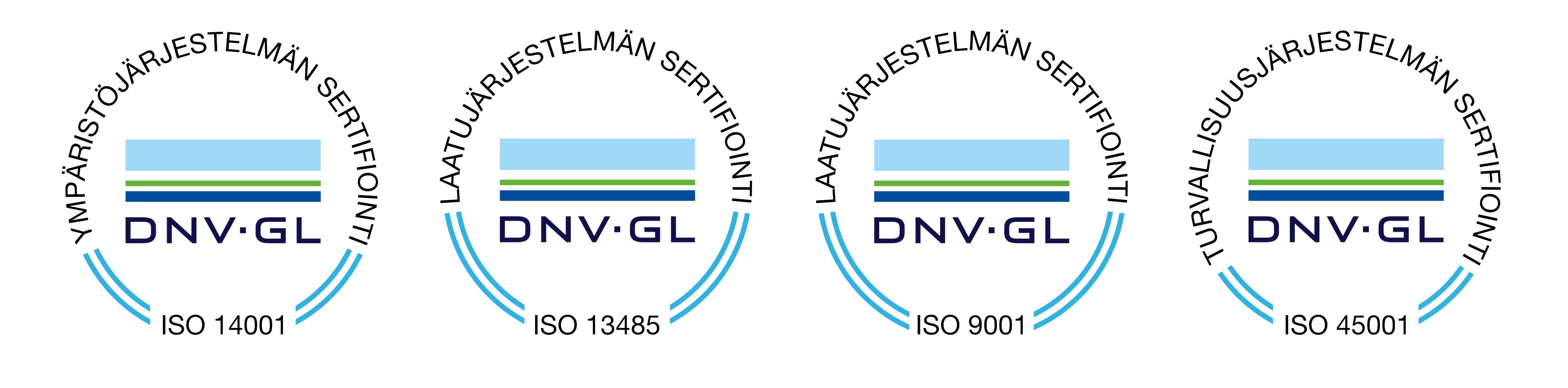 laatujärjestelmän sertifikaatit